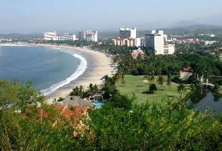 View of El PalmarBeach in Ixtapa.