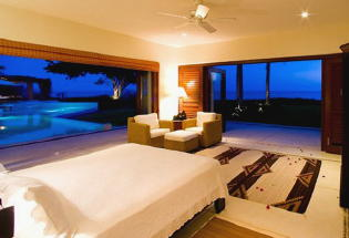 Master suite with view of pool and Banderas Bay.