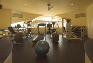 Air-conditioned workout room.