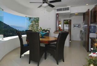 Dining Area with view.