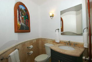 Well appointed Guest Bathroom.