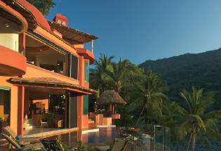 Villa Lala with breathtaking views of Banderas Bay.