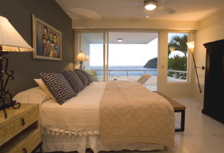 Guest bedroom with view.