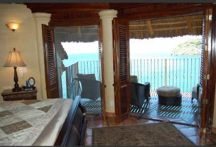 Lower bedroom suite with view of ocean.