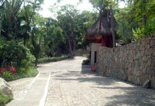 Driveway leading to Entrance Gate.