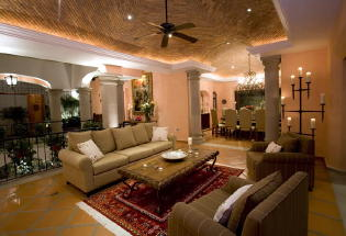 Beautifully decorated lounge area.