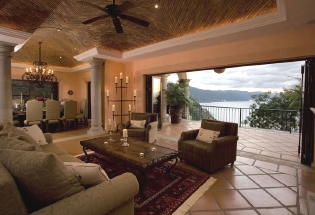 Sitting area with view of Banderas Bay.
