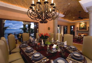 Large dining area with view of Bay.