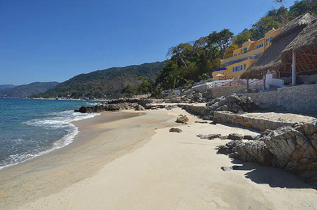 Fantasic view of the Bay of Banders from private beach at Playasola.