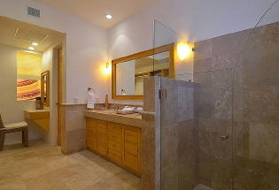 Mid level Master Suite Bathroom.
