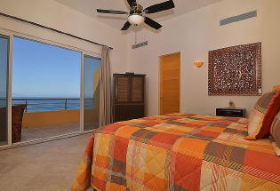 Nicely furnished Upper level Bedroom 4 with view of Bay.