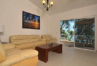 Comfortable living area of casita.
