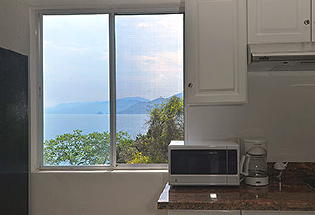 Kitchen with view looking towards Puerto Vallarta.
