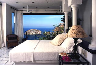 Guest bedroom with view of bay..