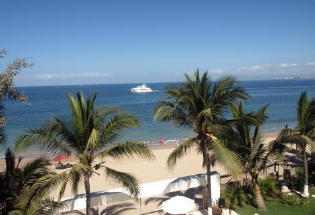 Fantastic view of Banderas Bay from pool terrace.